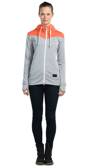 Mons Royale M's Mid-Hit Hoody Coral/Grey Marl